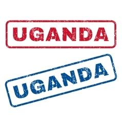 Uganda rubber stamps vector