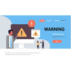 warning concept danger piracy error background vector image
