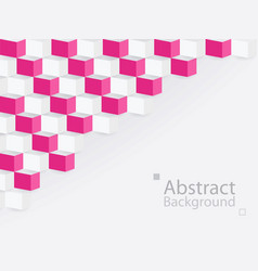 White pink abstract background square 3d modern vector