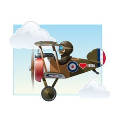 Ww1 aeroplane toys vickers vector