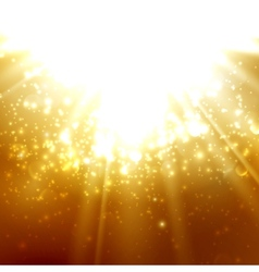 abstract of light rays on the amber vector image