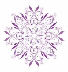 classical floral pattern vector image