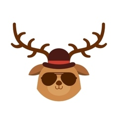 Cute animal hipster style vector