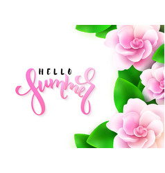 hand lettering - hello vector image vector image