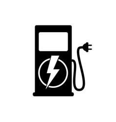 icon charging stations of electric cars vector image