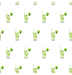 Seamless pattern with cocktails Mojito vector image