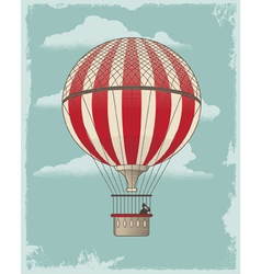 Vintage Retro Hot Air Balloon vector image