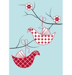bird toy hanging vector image