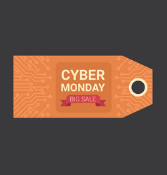 cyber monday horizontal tag motherboard design vector image vector image
