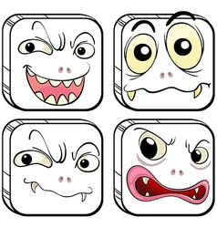 Four scary monsters vector image vector image