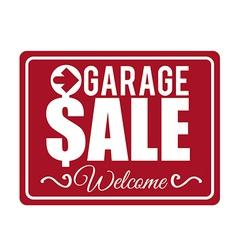 garage sale design vector image vector image