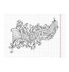 heart birth love with rainbow Hand-drawn vector image vector image