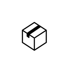 line package box icon on white background vector image