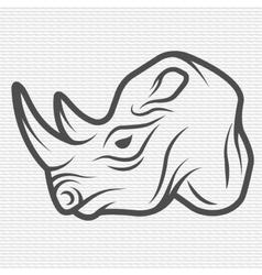 Rhino symbol logo vector image