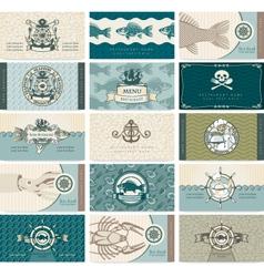 sea cards vector image