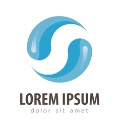 water logo design template drink or drop vector image vector image