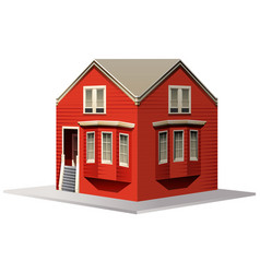 3d design for red house vector image vector image