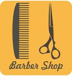 Comb and scissors icon vector image vector image