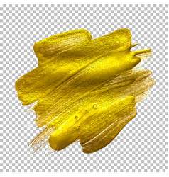 gold paint glittering textured art vector image vector image