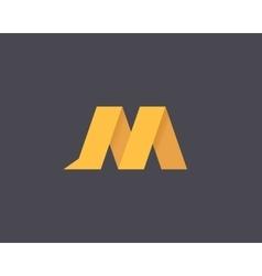 Letter M Logo vector image vector image