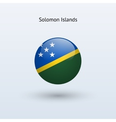 Solomon islands round flag vector