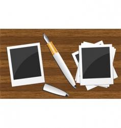 wood photo board vector image vector image