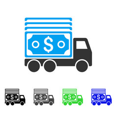 cash lorry flat icon vector image vector image