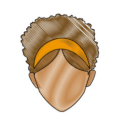 drawing head female hairstyle modern vector image vector image
