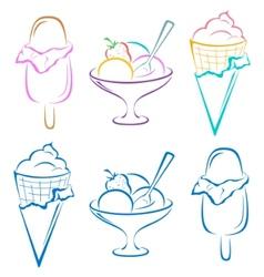 Icecream set vector