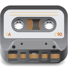 Icon for audio cassette vector image