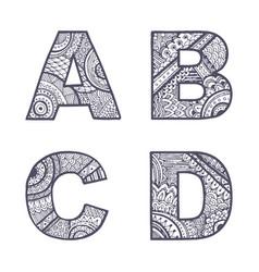 letters set a-d vector image vector image