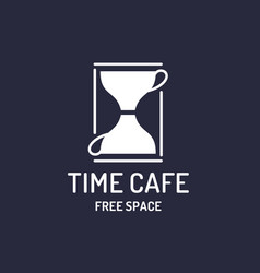 modern minimalistic logo for a time cafe and free vector image vector image