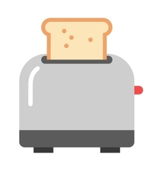 Toast popping toaster bread breakfast food kitchen vector image vector image