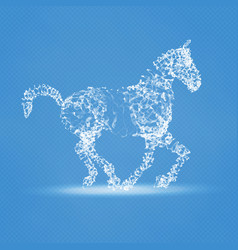 2014 chinese new year of the horse abstract mesh vector