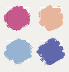 a set abstract backgrounds ink brush strokes vector image
