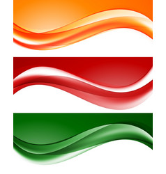 Abstract light wavy lines set vector