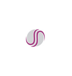 abstract s logo icon technology vector image