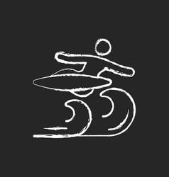 Air surfing technique chalk white icon on dark vector