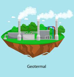 Alternative energy power industry geotermal power vector