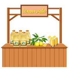 An isolated lemonade stall vector