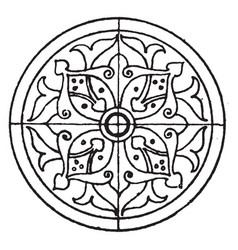 arabian circular panel is a 16th century design vector image