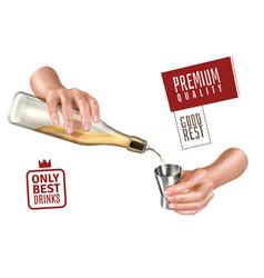 Bartender hands vector