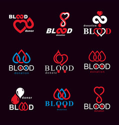 Blood donation conceptual collection healthcare vector
