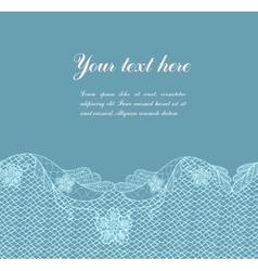 Blue vintage lacy border vector