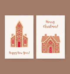 bundle decorative christmas and new year vector image