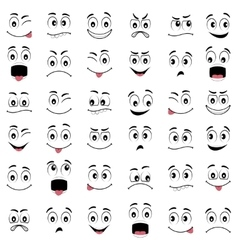 Cartoon faces with different emotions vector image