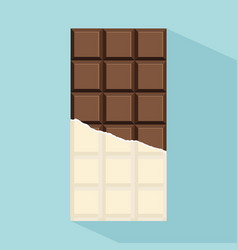 chocolate bar with long shadow vector image