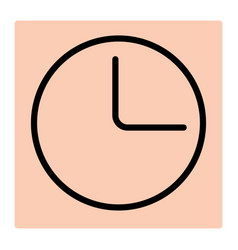 clock line icon for logistic company vector image