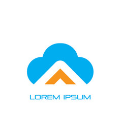 cloud business logo image vector image