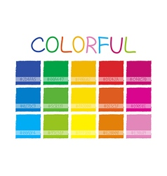 Colorful Color Tone vector image